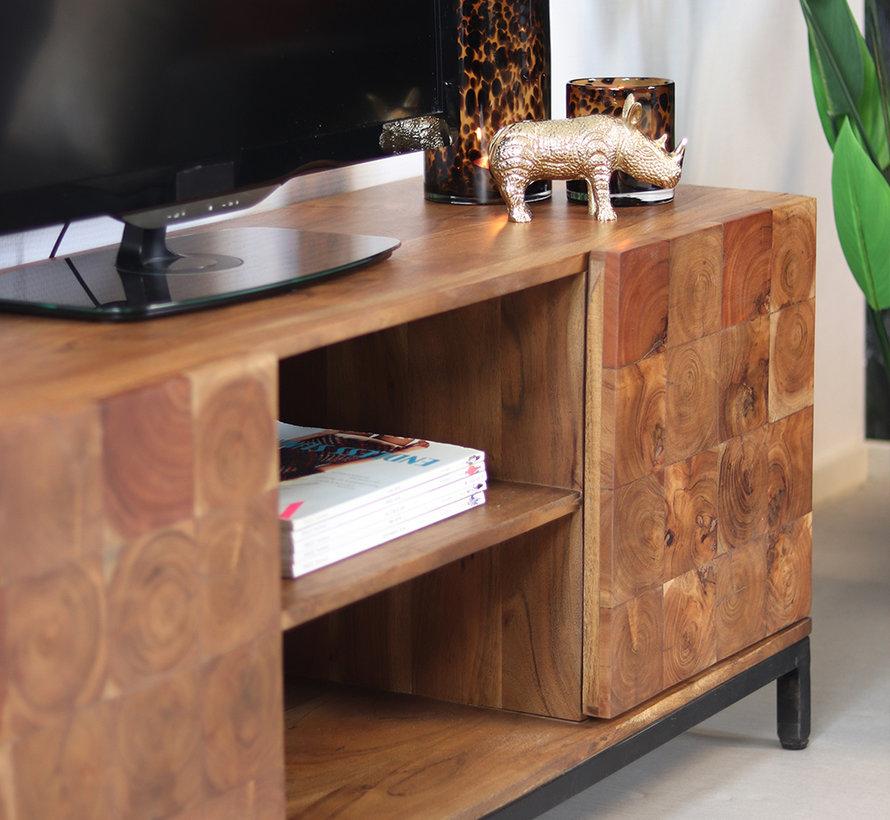 Tv meubel Forrest acaciahout 130 x 41 x 53 cm