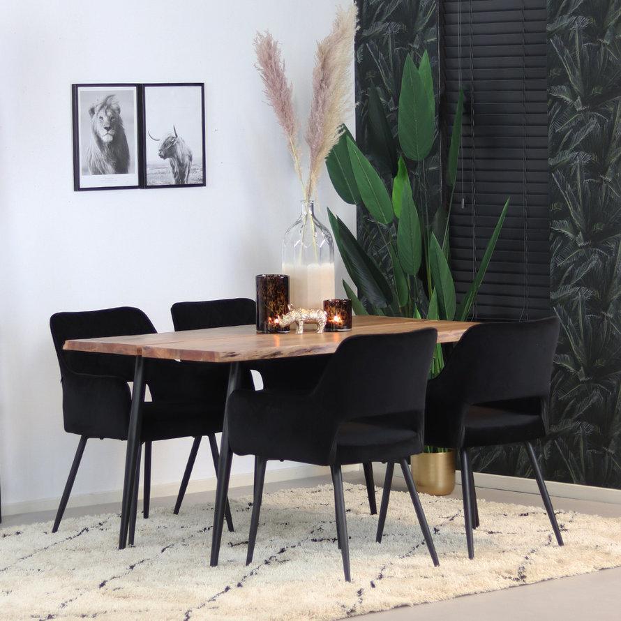 Horeca eettafel Richy acaciahout 140 x 80 cm