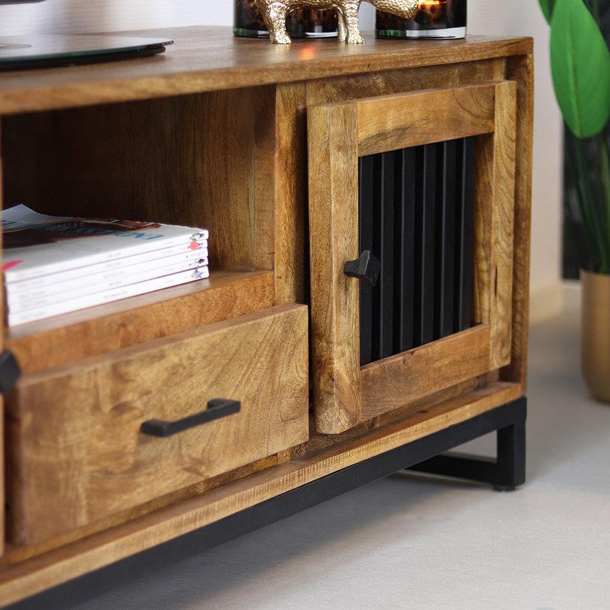 Tv-meubel Willis mangohout 135 x 45 x 50 cm