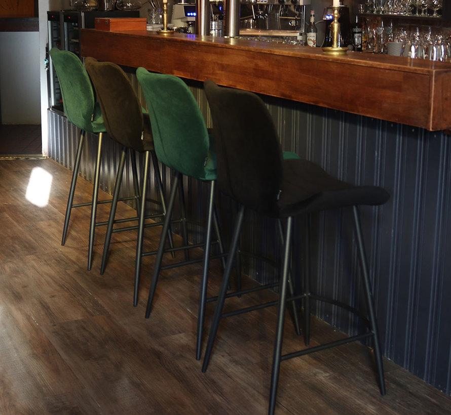 Horeca barkruk Toby donkergroen velvet 71 cm