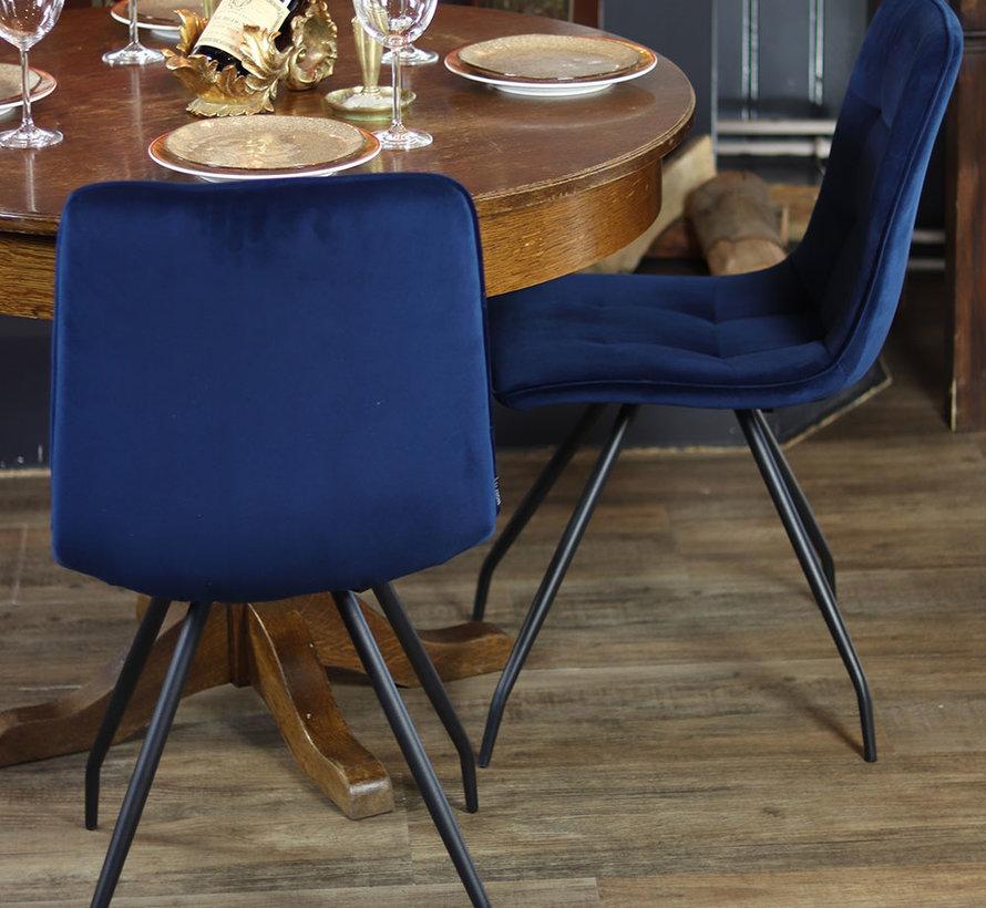 Horeca stoel Lisa donkerblauw velvet