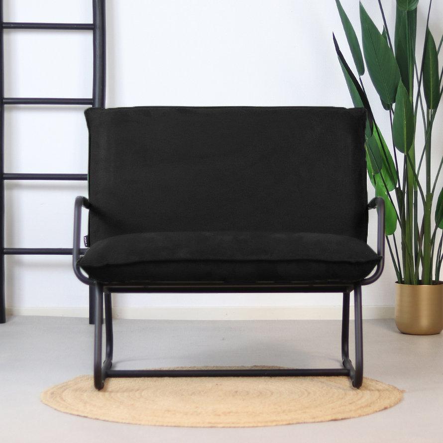 Fauteuil Ohio zwart polyester