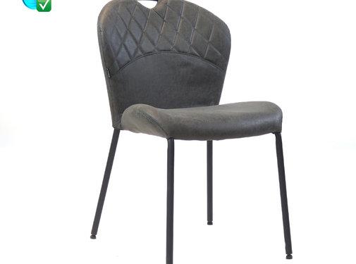 Bronx71 Stapelbare stoel Fay antraciet eco-leer