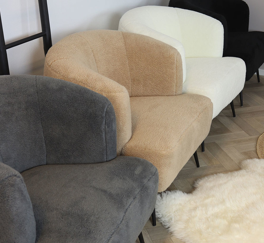 Fauteuil Billy wit teddy