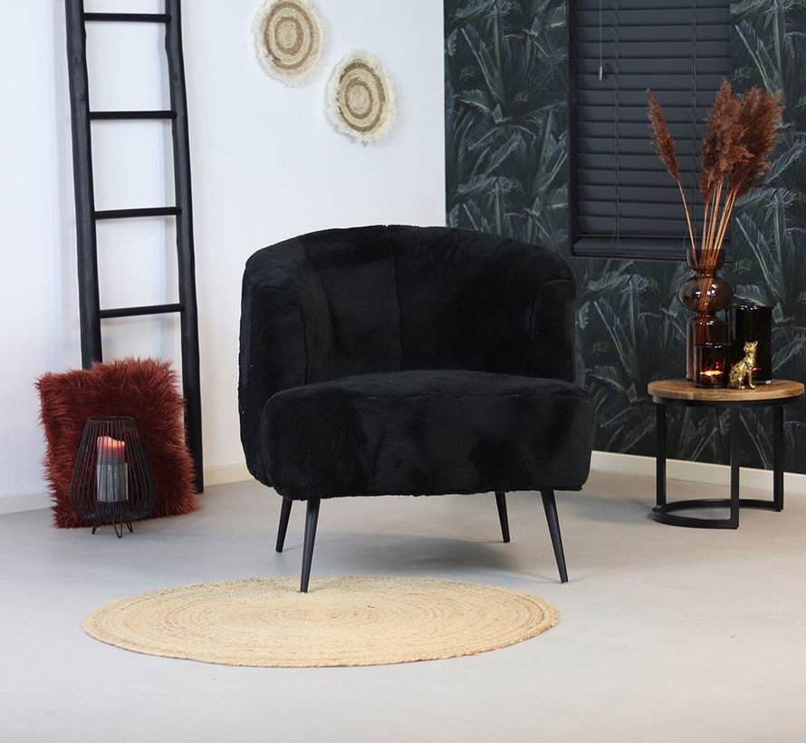 Fauteuil Billy zwart teddy