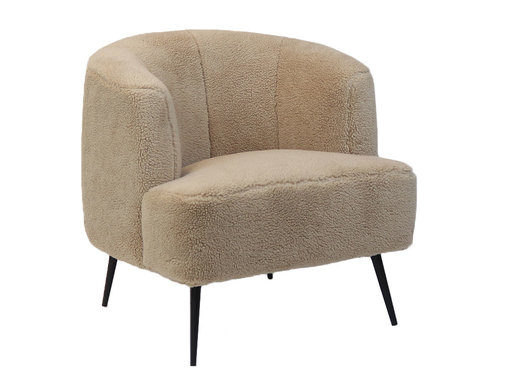 Bronx71 Fauteuil Billy taupe teddy