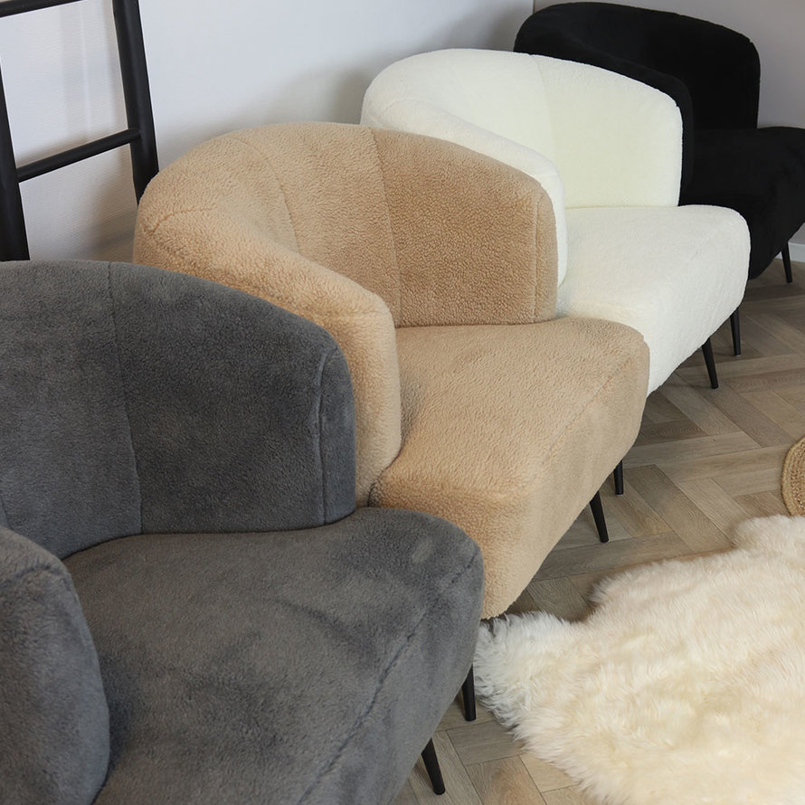 Fauteuil Billy taupe teddy