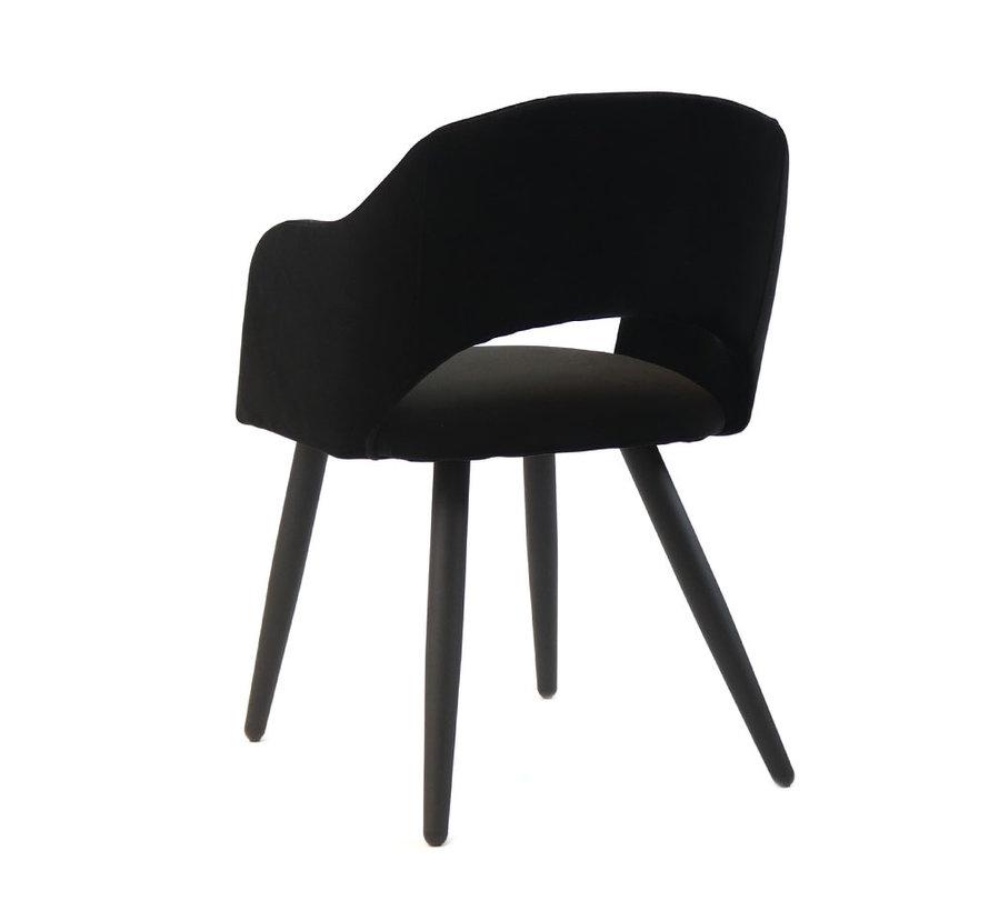Horeca stoel May zwart velvet