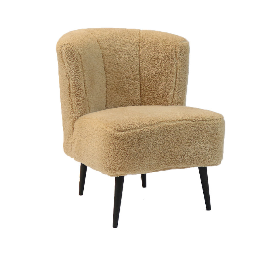 Fauteuil Lyla taupe teddy