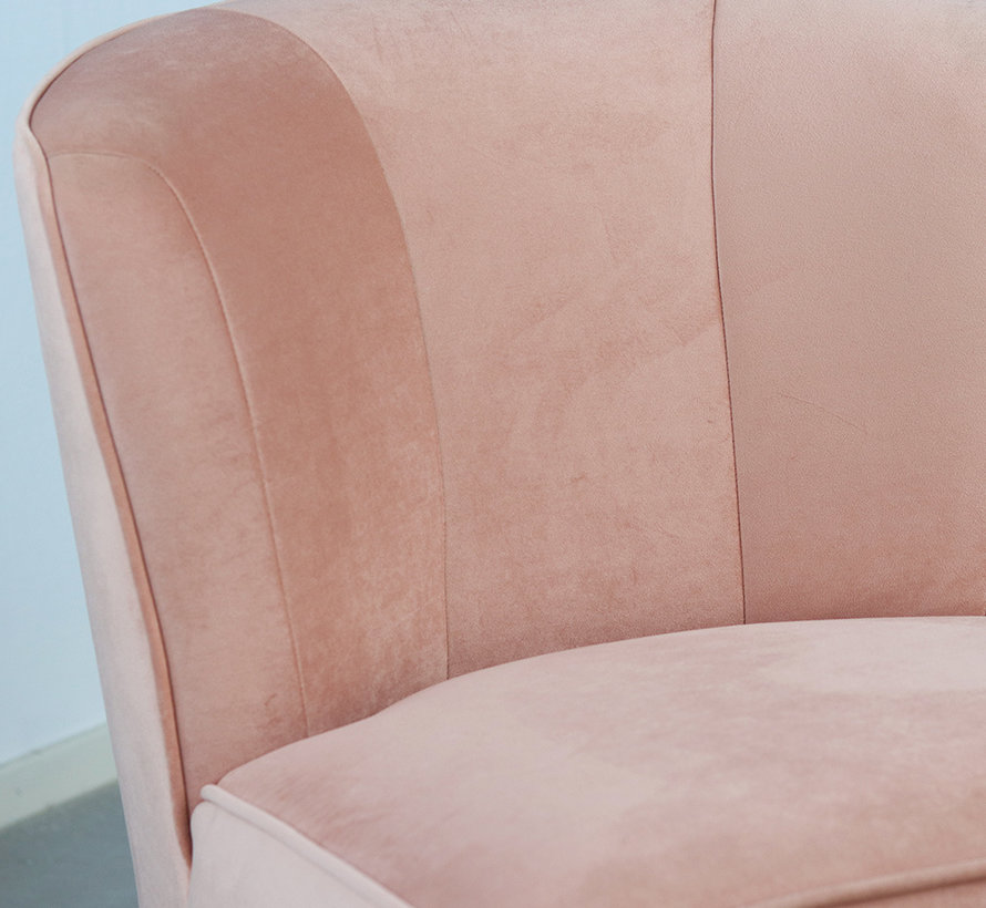 Fauteuil Lyla roze velvet