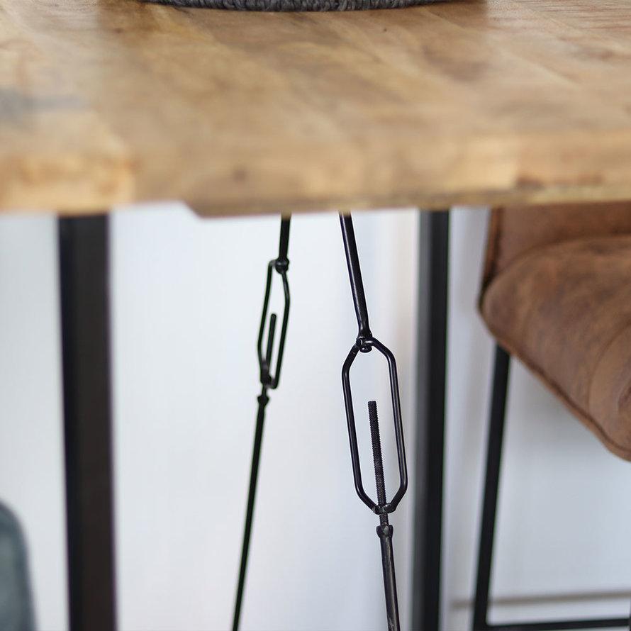 Bartafel Eden mangohout 130 x 70 x 110 cm