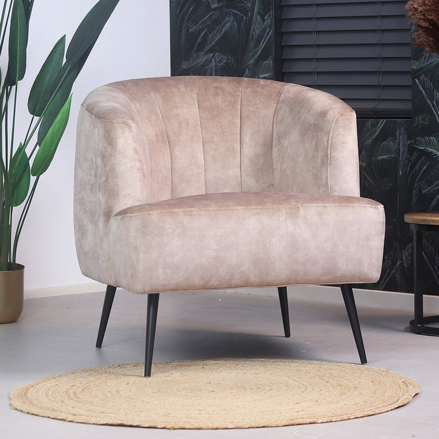 Fauteuil Billy taupe velvet