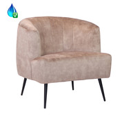 Bronx71 Fauteuil Billy taupe velvet