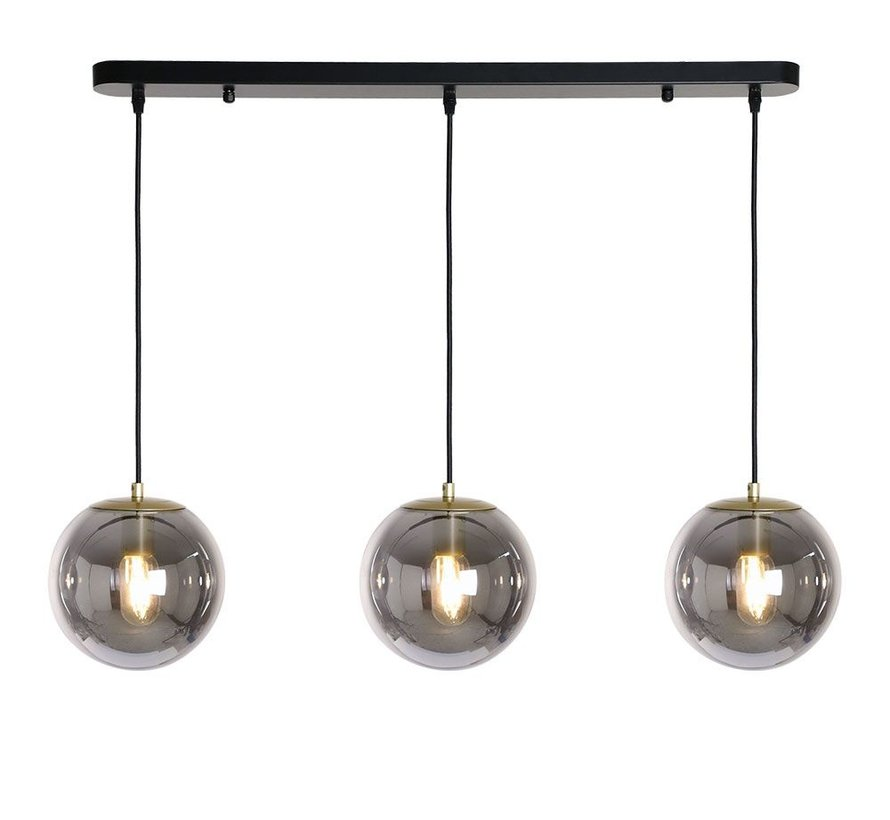 Hanglamp Mariel Smoke 3-lichts