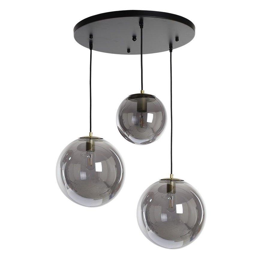 Hanglamp Alvin Smoke 3-lichts