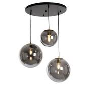Bronx71 Hanglamp Alvin Smoke 3-lichts