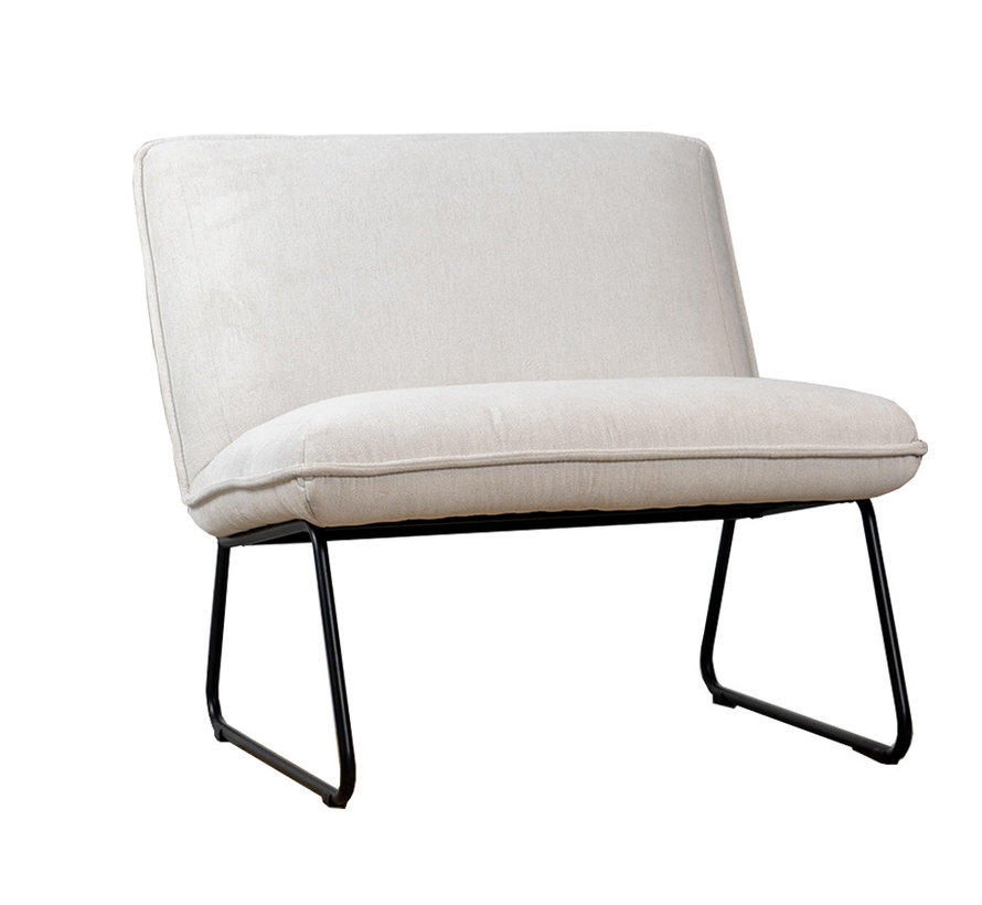 Fauteuil Merle wit polyester