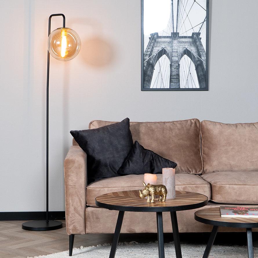 Vloerlamp Ebba Amber 1-lichts