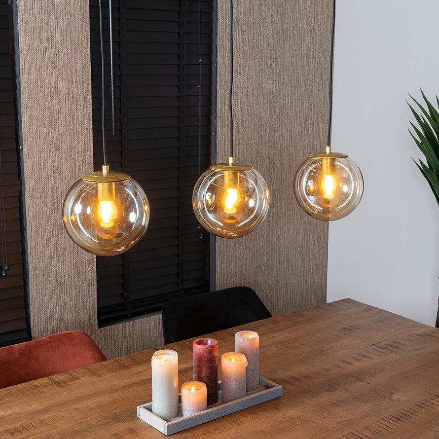 Hanglamp Mariel Amber 3-lichts