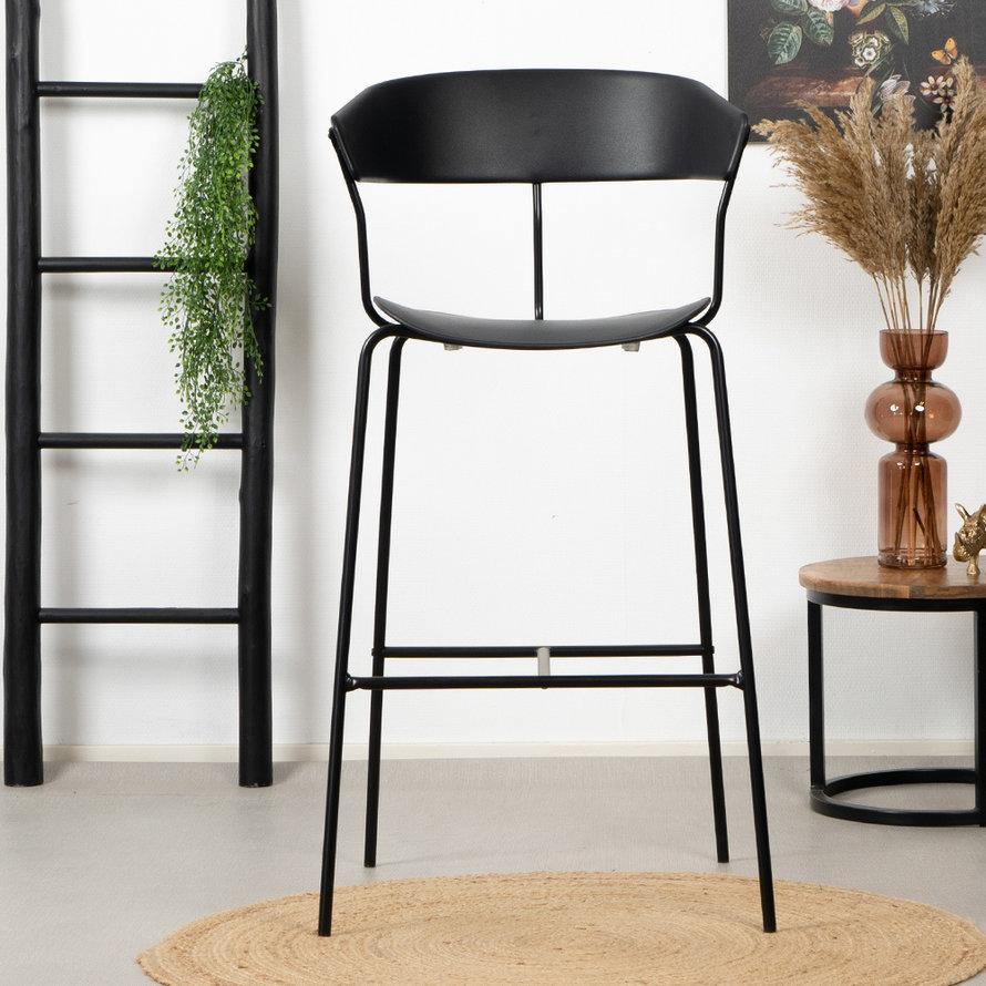 Horeca Barkruk Denver zwart Scandinavisch design 77cm