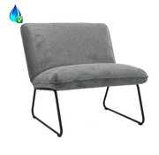 Bronx71 Fauteuil Merle antraciet polyester