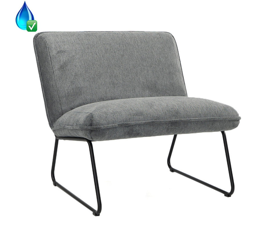 Fauteuil Merle antraciet polyester