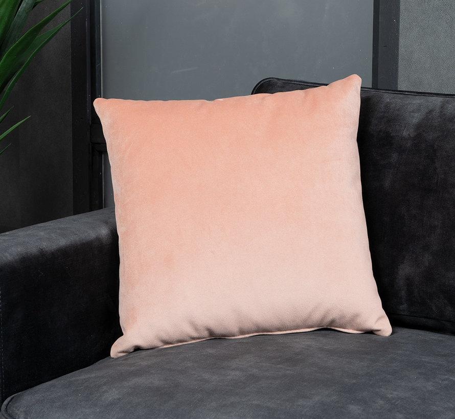 Kussen Anna roze velvet 45 x 45 cm