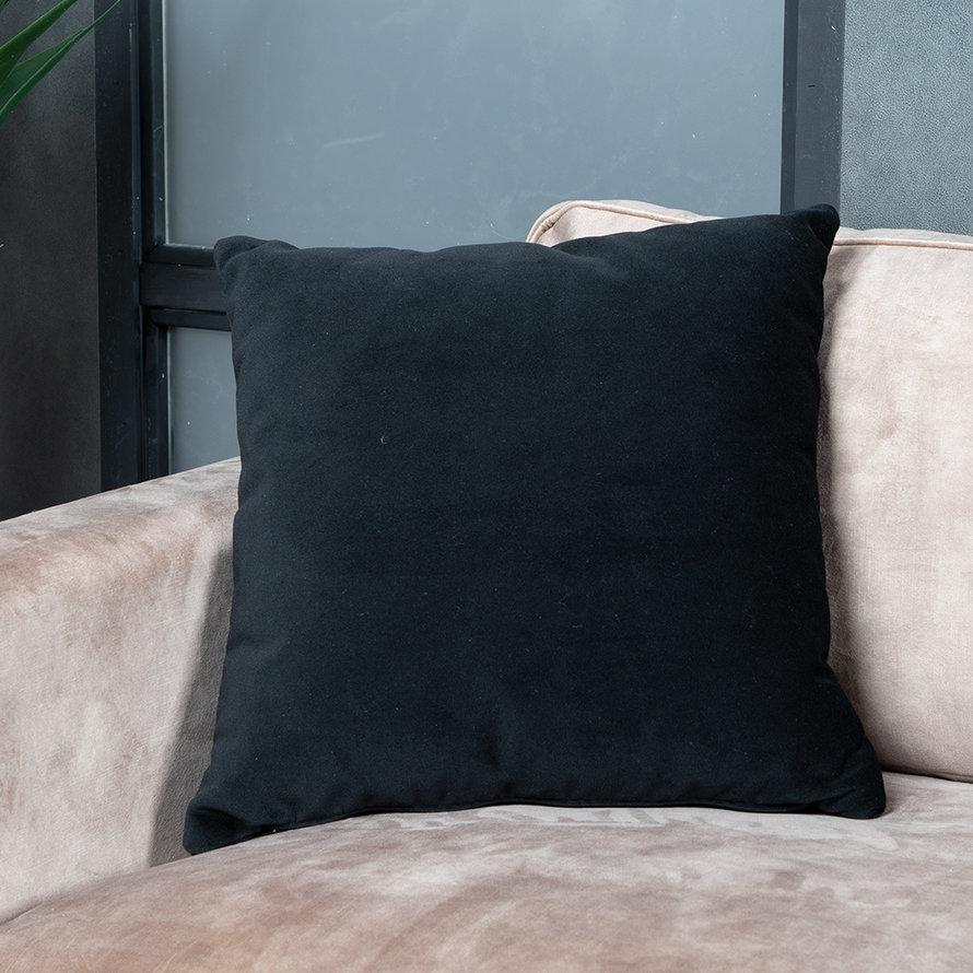 Kussen Anna zwart velvet 45 x 45 cm