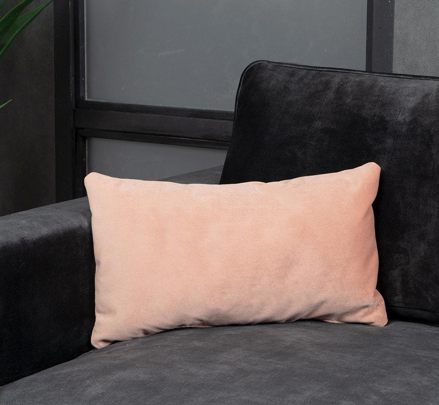 Kussen Anna roze velvet 25 x 45 cm