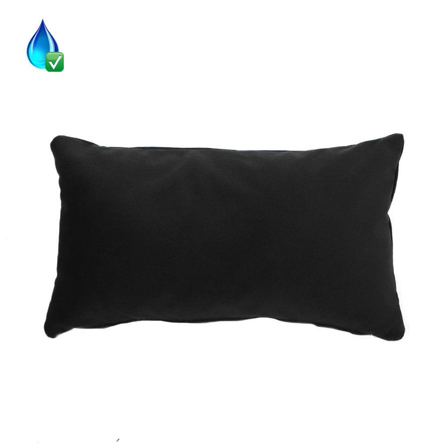 Kussen Anna zwart velvet 25 x 45 cm