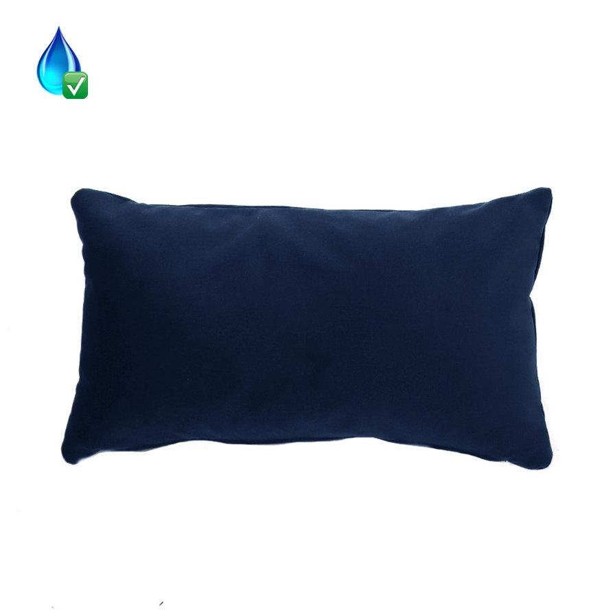 Kussen Anna donkerblauw velvet 25 x 45