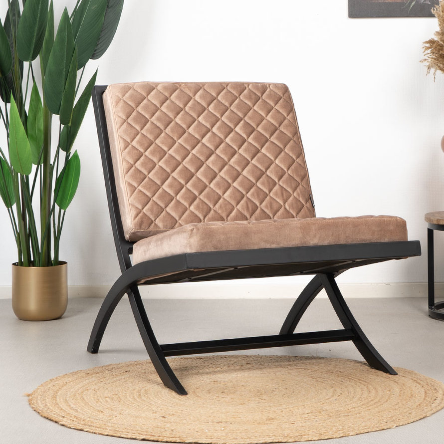 Fauteuil Madrid taupe velvet