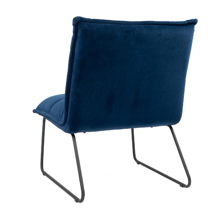 Fauteuil Malaga donkerblauw velvet