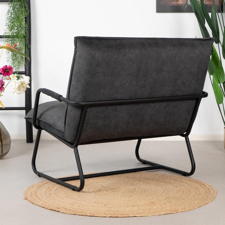 Fauteuil Ohio zwart velvet