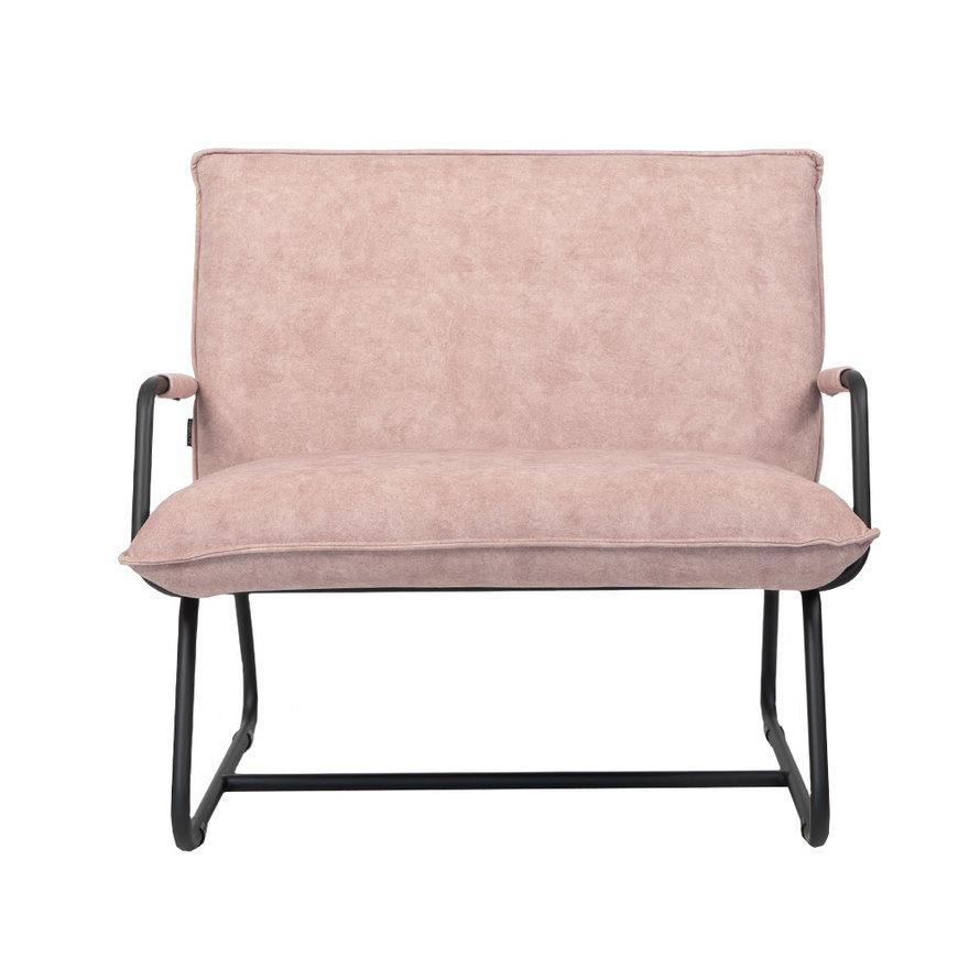 Fauteuil Ohio roze velvet