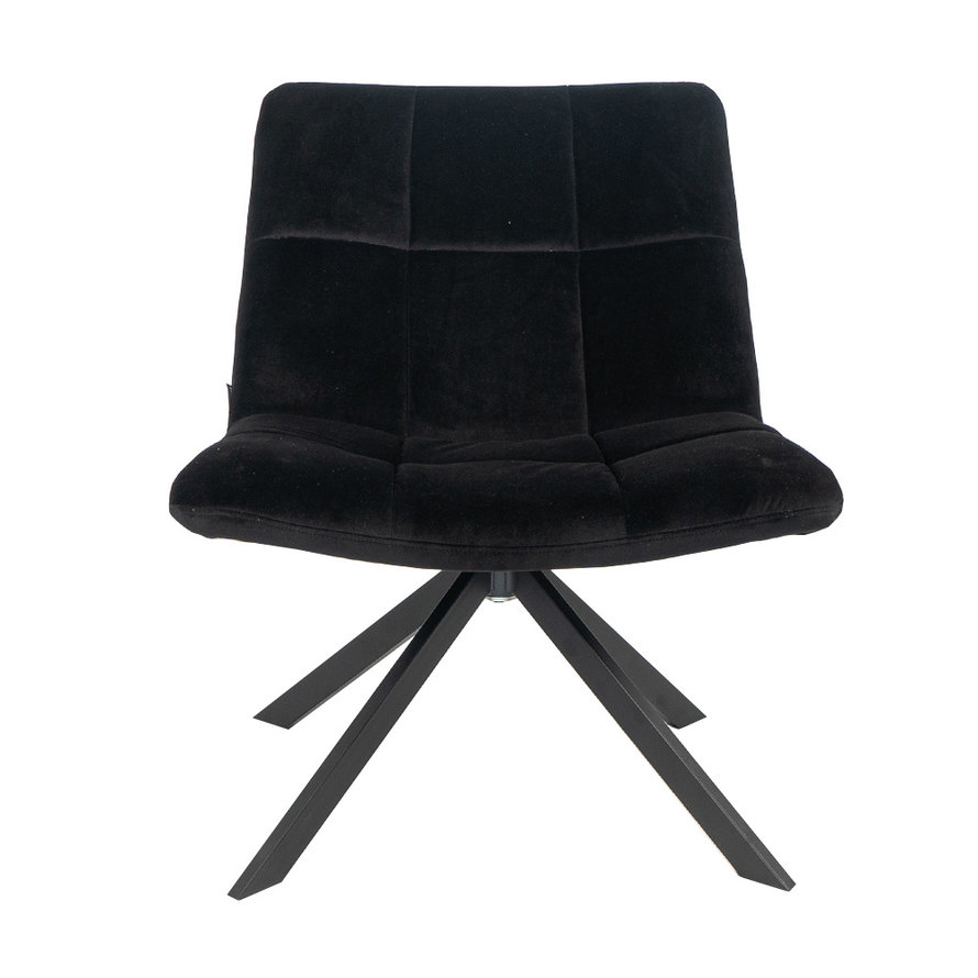Fauteuil Eevi zwart velvet
