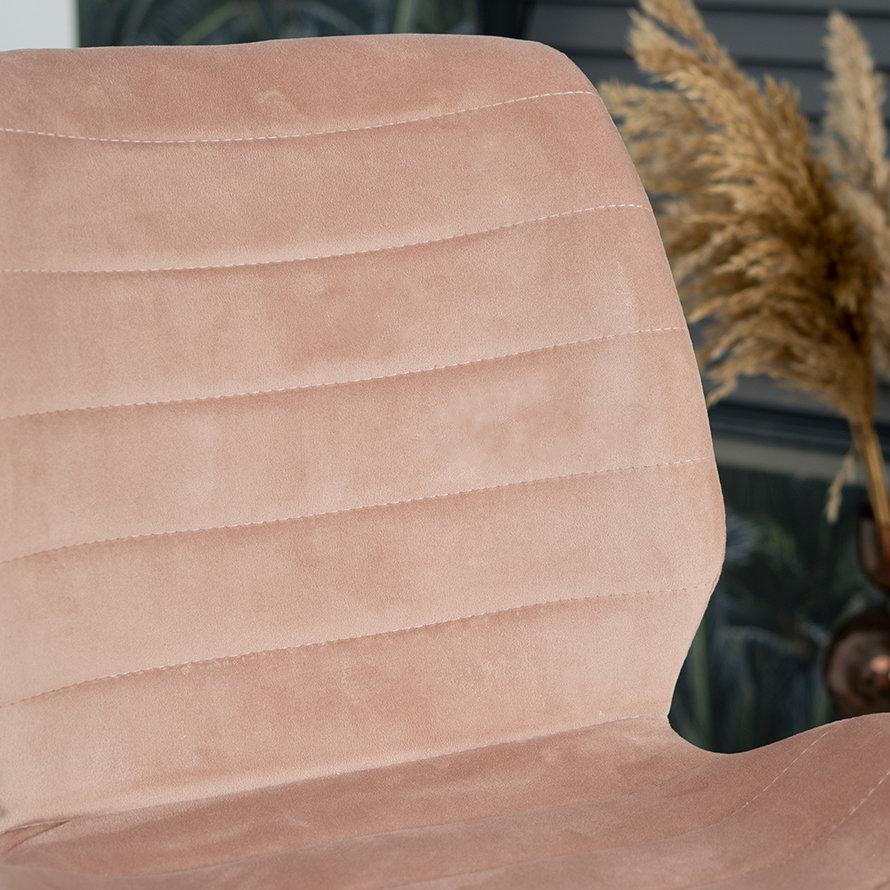 Horeca barkruk Toby roze velvet 71 cm