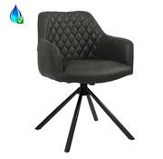 Bronx71 Draaibare stoel Dex zwart eco-leer