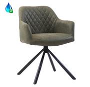 Bronx71 Draaibare stoel Dex olijfgroen eco-leer