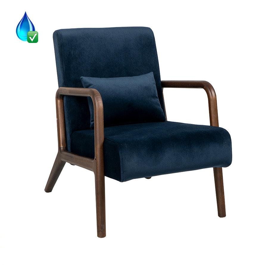 Fauteuil Bibi velvet donkerblauw