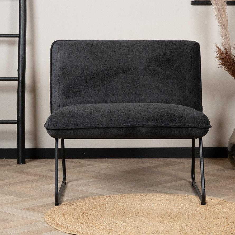 Fauteuil Merle zwart polyester