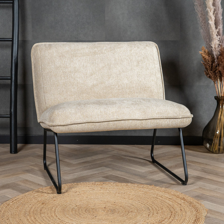 Fauteuil Merle taupe polyester