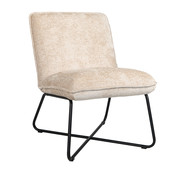Bronx71 Fauteuil Sophie wit chenille stof