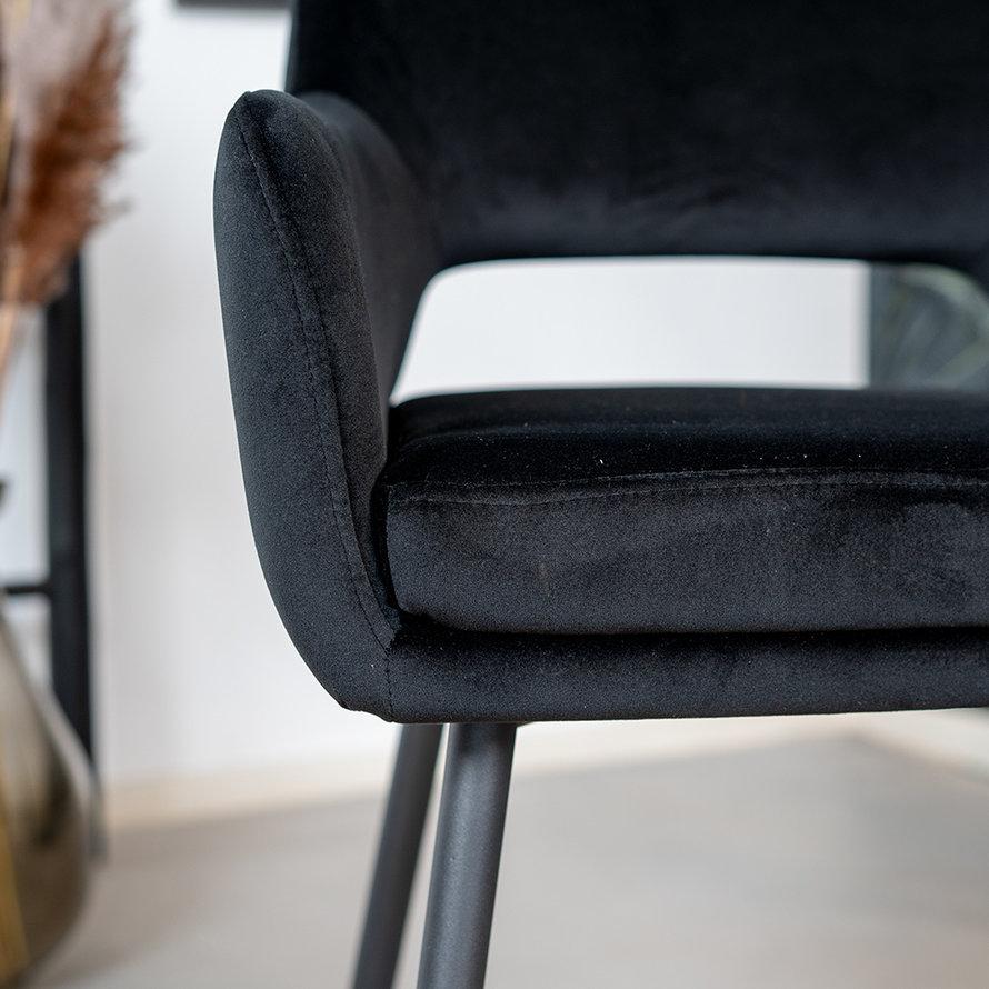Stoel Reno zwart velvet