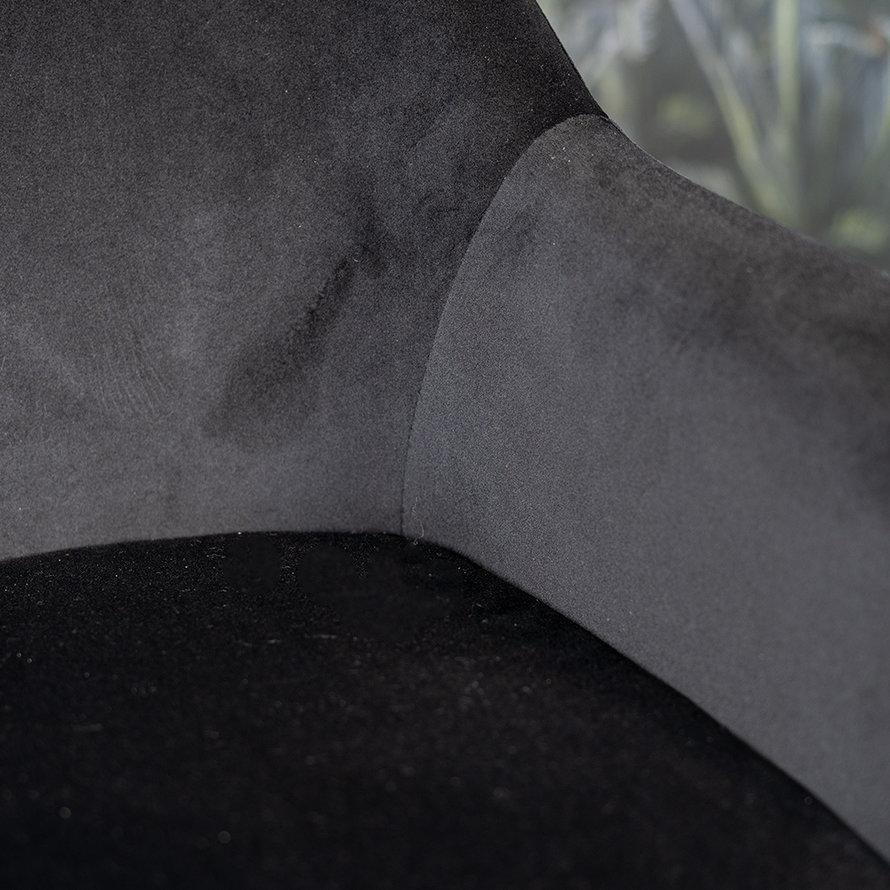 Stoel Davie zwart velvet