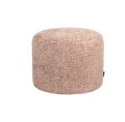 Bronx71 Poef/hocker Feline roze chenille stof