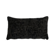 Bronx71 Kussen Feline zwart chenille stof 25 x 45 cm