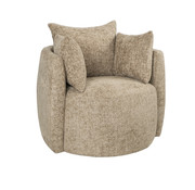 Bronx71 Fauteuil Ruby taupe chenille stof