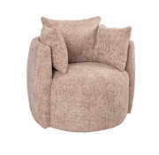 Bronx71 Fauteuil Ruby roze chenille stof