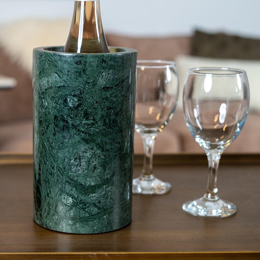 Wijnkoeler marmer Bris groen